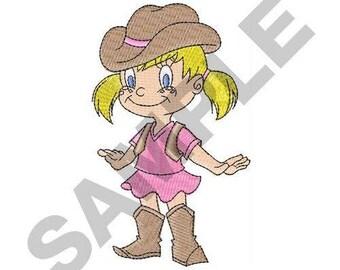 Little Cowgirl - Machine Embroidery Design