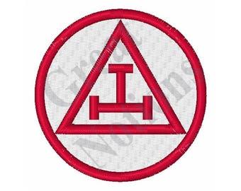 Royal Arch Masons Circular - Machine Embroidery Design