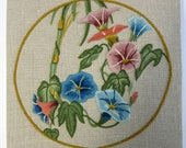 Special Listing for Valerie, Texco. Vintage Floral Crewel, Vintage Crewelwork,  Embroidered Wall Decor, Crewel Work Wall Decor -V148