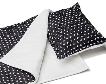 Baby Blanket, Scandinavian Crib Bedding,Modern Baby Quilt,Scandinavian Baby Blanket, Minky baby blanket, Baby Play Mat, Baby Black and White