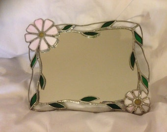 Stained glass Flower mirror