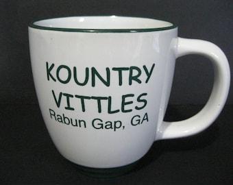 Kountry Vittles Mug, Vintage Restaurant Mug, Georgia Diner Mug