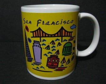 Vintage San Francisco Coffee Mug, Luke-A-Tuke San Francisco Mug, San Francisco Souvenir Mug