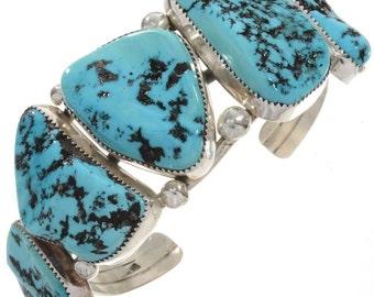 Bangle silver Sleeping Beauty Turquoise nuggets