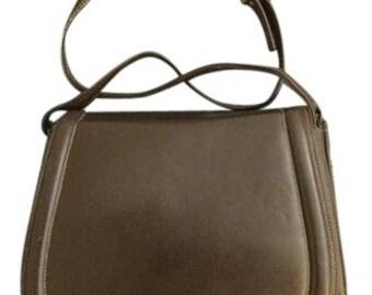 Leather Susan Gail Dark Brown Crossbody Bag: leather crossbody bag, vintage bag, vintage leather, brown purse, vintage purse, cross body