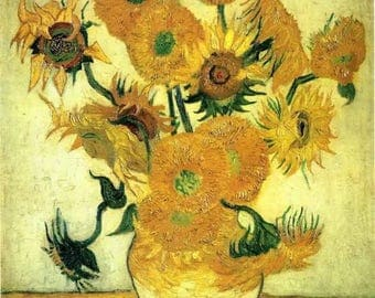 Sunflowers- Vincent Van Gogh Oil Painting Museum Quality Reproduction