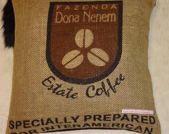 "Coffee sack ""Dona Nenem"", ca. 40 x 40 cm"