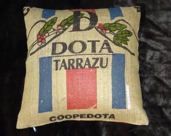 Coffee bag reference 'Tarrazu', 50 x 50 cm