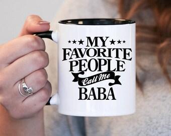 My favourite people call me Baba, Baba Gift, Baba Birthday, Baba Mug, Baba Gift Idea, Baby Shower, Pregnancy Association