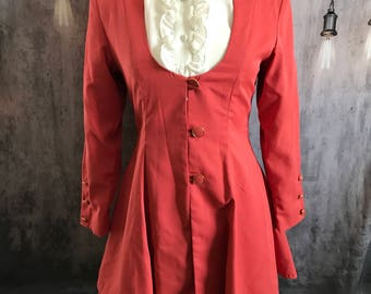 Vintage HEJIA steampunk Victorian style coat dress. Size med. excellent condition
