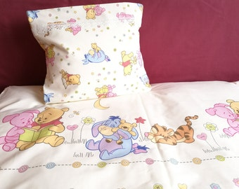 Winnie the Pooh bedding set, Winnie the Pooh baby, Duvet cover, Crib sheets, Winnie the Pooh theme, Pillow case for kid, Infant bed cover