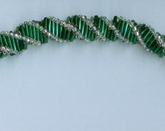 Handmade bracelet, bugle beads, seed beads