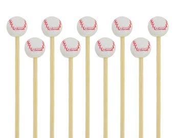 Bamboo Wood Baseball Skewers