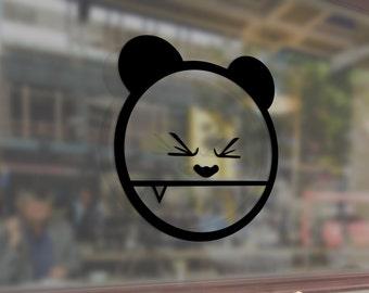 JDM BEAR Grizzly Panda Meme Art Vinyl Stickers Funny Decals Bumper Car Auto Computer Laptop Wall Window Glass Skateboard Snowboard Helmet