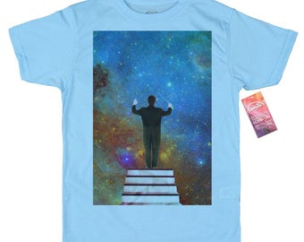 Stars Conductor T shirt, Space Collages
