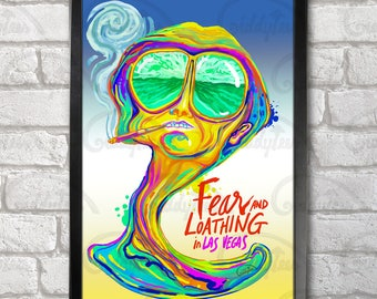 Fear and Loathing in Las Vegas Poster Print A3+ 13 x 19 in - 33 x 48 cm Psychedelic Design Buy 2 get 1 FREE