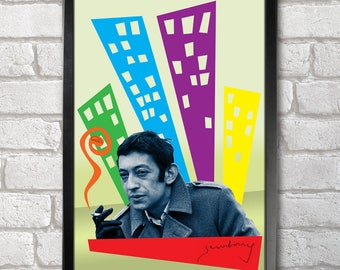 Serge Gainsbourg Poster Print A3+ 13 x 19 in - 33 x 48 cm  Buy 2 get 1 FREE