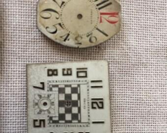 15 Vintage Clock Faces! - lot 1