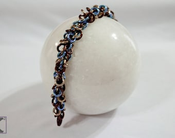 Bracelet Bronze, Champagne, & Sky Blue Shaggy Style
