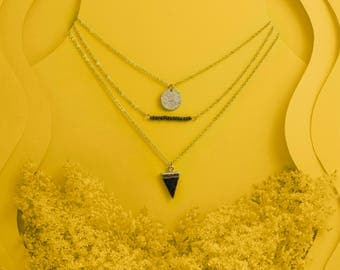 "Triple layer necklace ""Amina"""