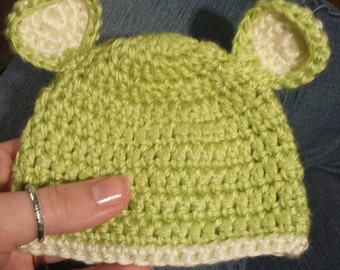 Newborn - 3 Months Baby Beanie Hat with Ears