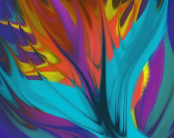 Digital Art Fire bird