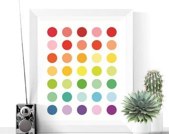 Polka Dot Art | Bright Polka Dots Printable | Abstract Print | Modern Art | Colorful Printable | Digital Download | Home Art | Polka Dots