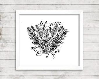 Feather Wall Art - A4 Digital Wall Print