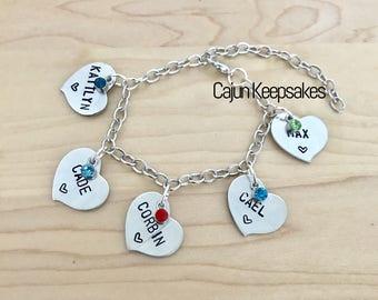 Bracelet | Cuztomized | Heart Bracelet | Personalized Handstamped Jewelry