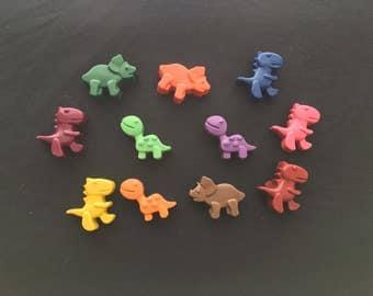 Dinosaur Crayons (9 Dino's)- Dinosaur birthday gift- Easter basket