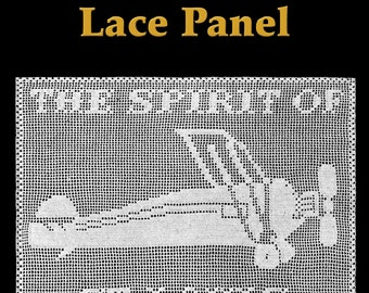 Spirit of St. Louis Lace Panel Filet Crochet Pattern
