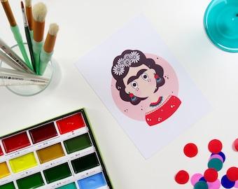 Frida Kahlo Print A5