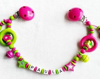 Stroller chain Hello Kitty pink Apple green
