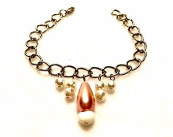 Blushing Pearl Drop Bracelet