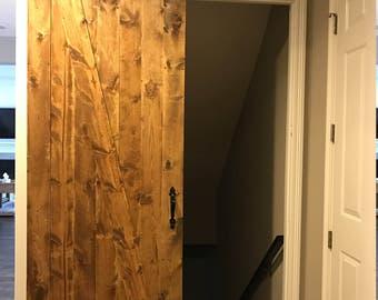 Custom Stained Barn Door