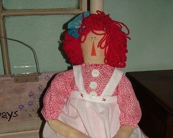 Rag Annie~handcrafted rag doll