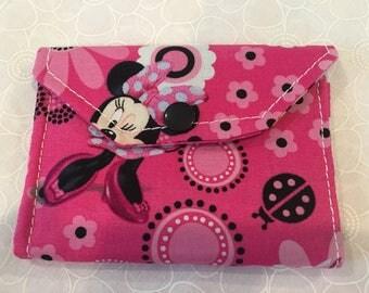 Change wallet, women's wallet, bifold wallet, cotton wallet, handmade wallet