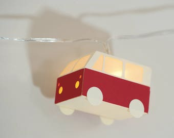 "TO order * small ""combination"" red VW paper string light"