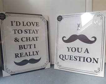 Funny Canvas, Mustache Quotes, Mustache Canvas, Mustache Art, Funny Mustache, Moustache, Funny Quotes, Quote Canvas, Mustache Gift