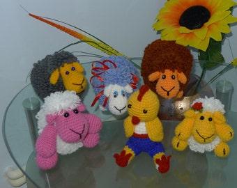 Handmade amirugumi toys