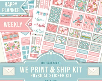 May Planner Stickers, Floral Planner Stickers, May Weekly Kit, Cherry Blossom Planner Stickers, Happy Planner Flower Stickers, 17027