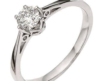 Premium quality 1/6 carat diamond solitaire engagement ring