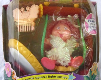 1985 Blinkins Flashy Doll and Her Swing away Swing NIB LJN Toys LTD Never Opened Miniature Doll