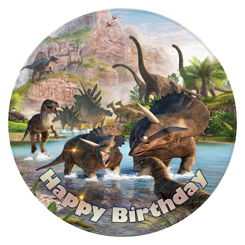 Dinosaur Cake Topper Printed