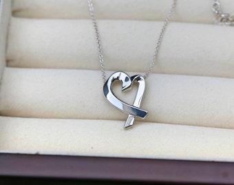 """Tiffany & Co. Loving Heart pendant 17"""" necklace"""