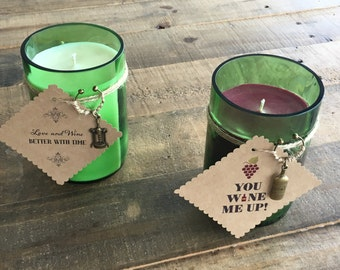 Customized Red or White Wine Candle