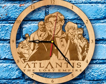 Atlantis Disney wall Clock Milo atlantis art atlantis crystal atlantis gift atlantis the lost empire print cartoon princess kida