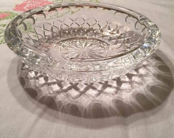 Princess House Ashtray - Lead Crystal