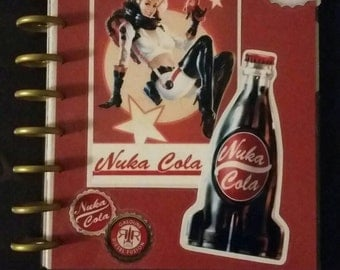 Fallout 4 inspired Vault Girl Nuka Cola classic Happy Planner Cover