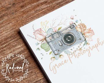 Premade Logo | Logo Design | Photography Logo | Photographers Logo | Watercolour Logo | Simple Logo | Vintage Logo | Classy Logo